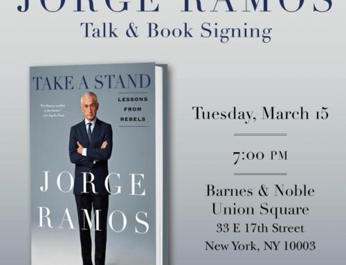 """Sin Miedo"""" de Jorge Ramos a la venta hoy en todo el país. Firma de libros en Nueva York esta noche"""